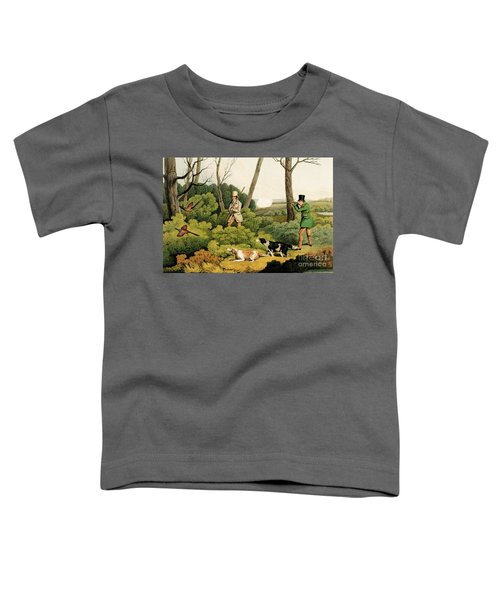 Pheasant Shooting Toddler T-Shirt by Henry Thomas Alken