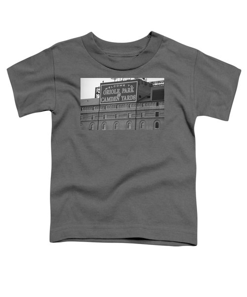 Baltimore Orioles Park At Camden Yards Toddler T-Shirt by Frank Romeo