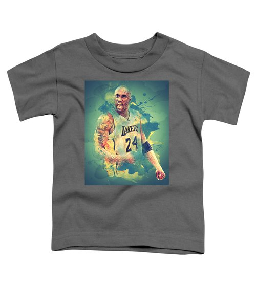 Kobe Bryant Toddler T-Shirt by Taylan Soyturk