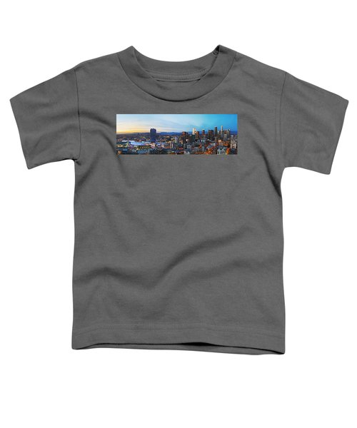 Los Angeles Skyline Toddler T-Shirt by Kelley King