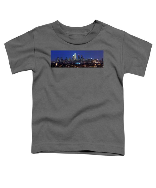 Buildings Lit Up At Night In A City Toddler T-Shirt by Panoramic Images