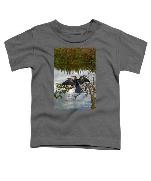 Anhinga Toddler T-Shirt by Mark Newman
