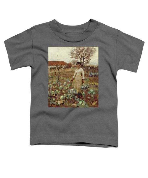 A Hinds Daughter, 1883 Oil On Canvas Toddler T-Shirt by Sir James Guthrie