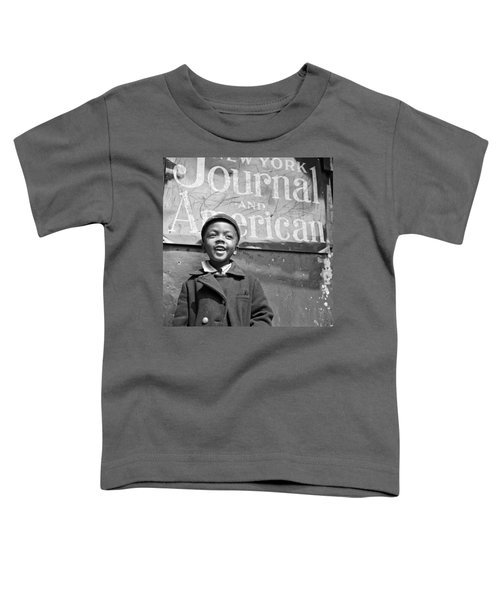 A Young Harlem Newsboy Toddler T-Shirt by Underwood Archives