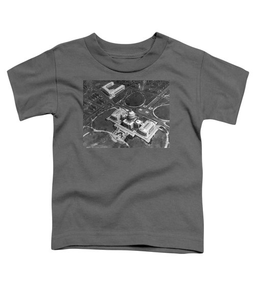 Aerial View Of U.s. Capitol Toddler T-Shirt by Underwood Archives