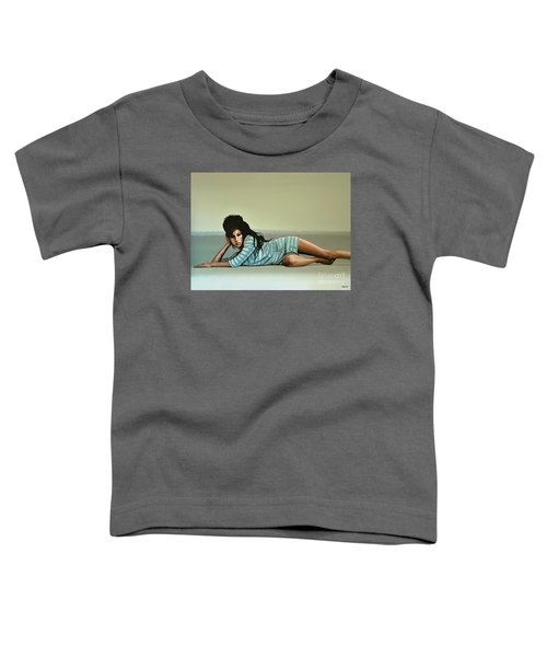 Amy Winehouse 2 Toddler T-Shirt by Paul Meijering
