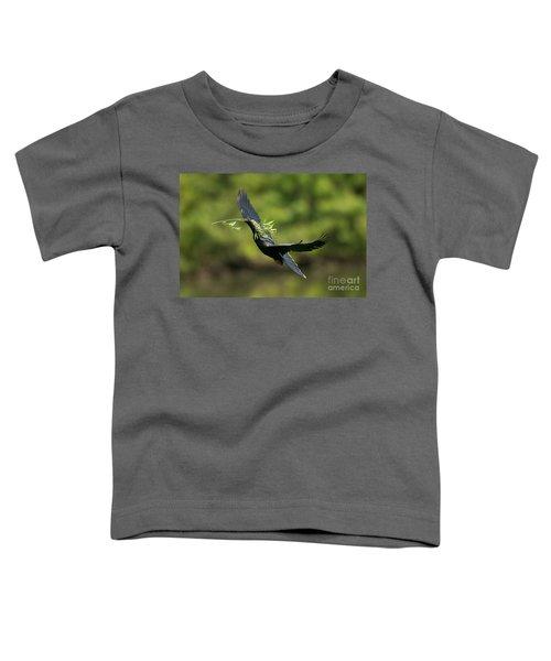 Anhinga Toddler T-Shirt by Anthony Mercieca
