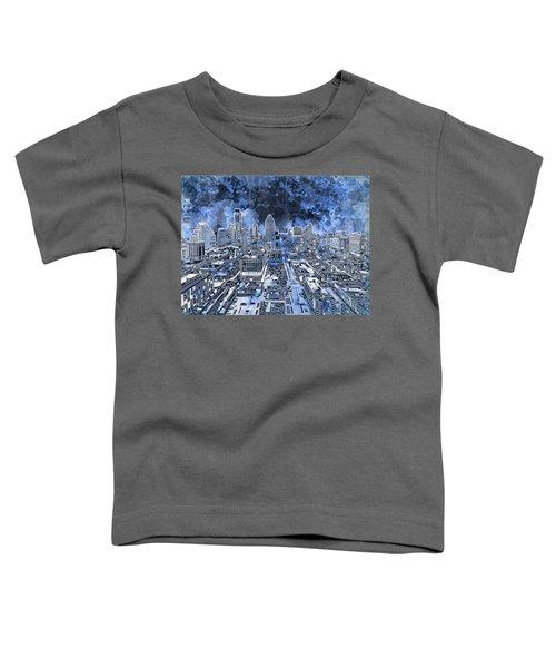 Austin Texas Abstract Panorama 5 Toddler T-Shirt by Bekim Art