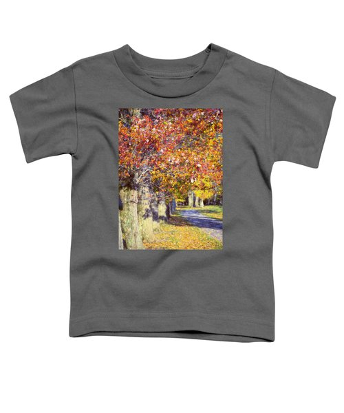 Autumn In Hyde Park Toddler T-Shirt by Joan Carroll