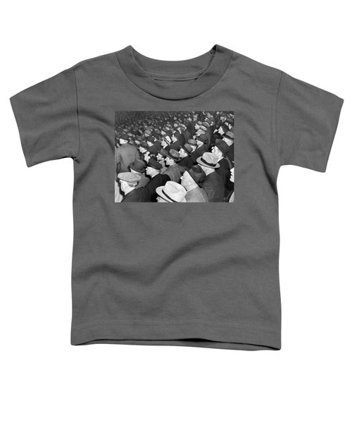 Baseball Fans At Yankee Stadium For The Third Game Of The World Toddler T-Shirt by Underwood Archives
