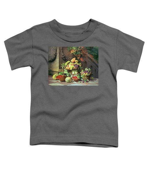 Baskets Of Summer Fruits Toddler T-Shirt by William Hammer