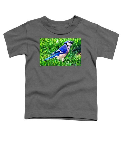 Blue Jay Toddler T-Shirt by Stephen Younts