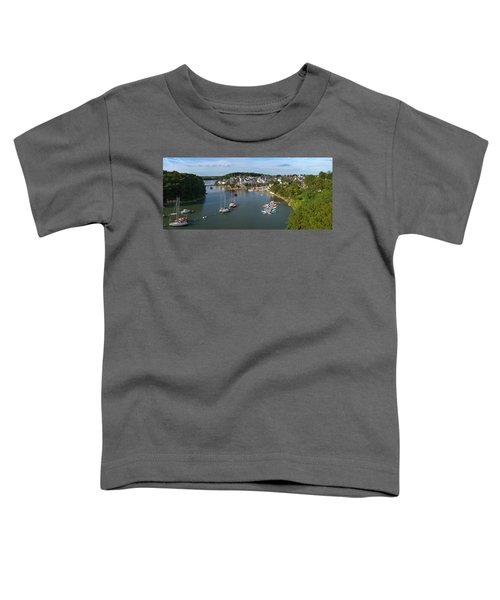 Boats In The Sea, Le Bono, Gulf Of Toddler T-Shirt by Panoramic Images