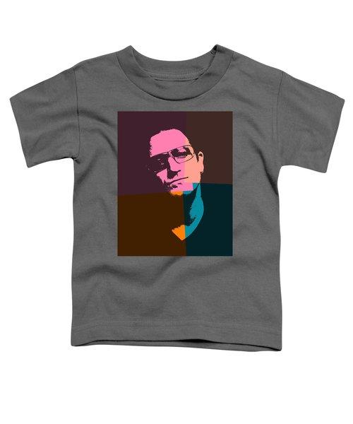 Bono Pop Art Toddler T-Shirt by Dan Sproul
