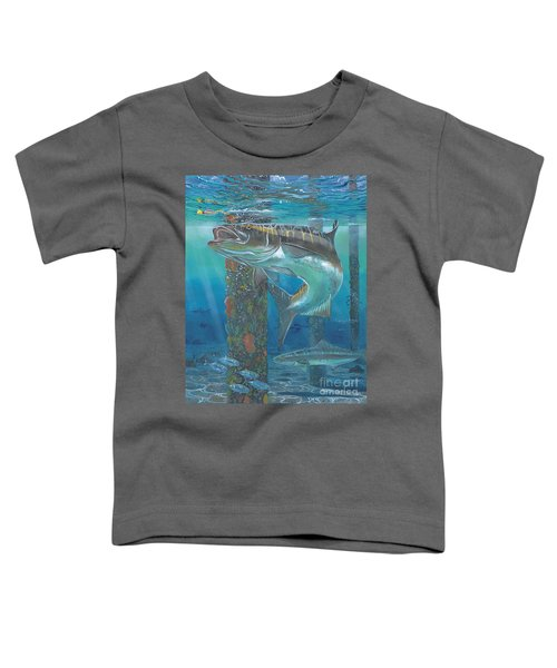 Cobia Strike In0024 Toddler T-Shirt by Carey Chen