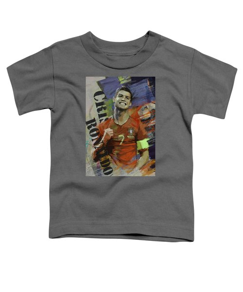 Cristiano Ronaldo - B Toddler T-Shirt by Corporate Art Task Force