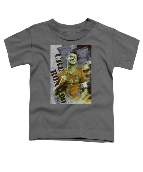 Cristiano Ronaldo Toddler T-Shirt by Corporate Art Task Force
