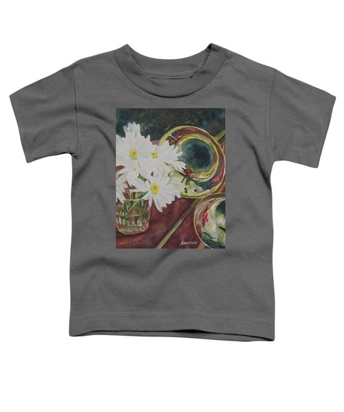 Daisies Bold As Brass Toddler T-Shirt by Jenny Armitage