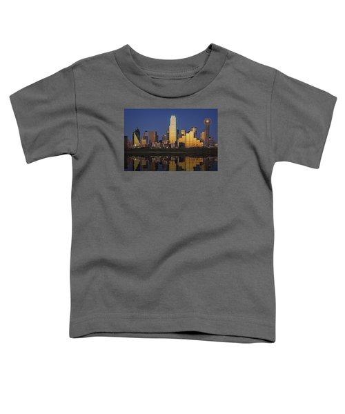Dallas At Dusk Toddler T-Shirt by Rick Berk