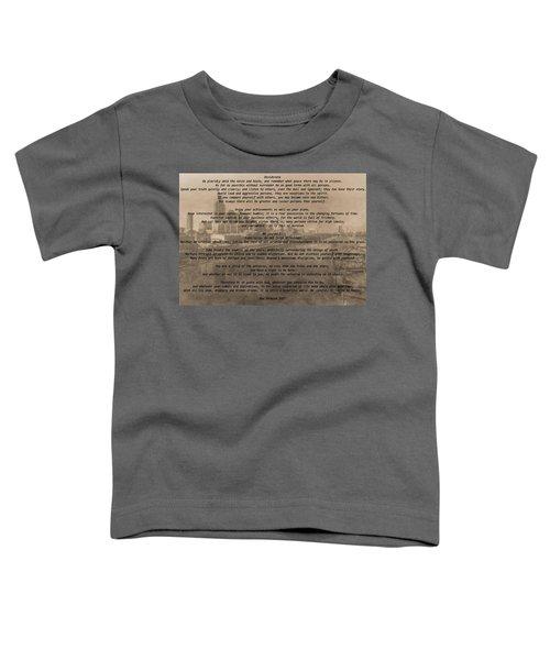 Desiderata Nashville Toddler T-Shirt by Dan Sproul