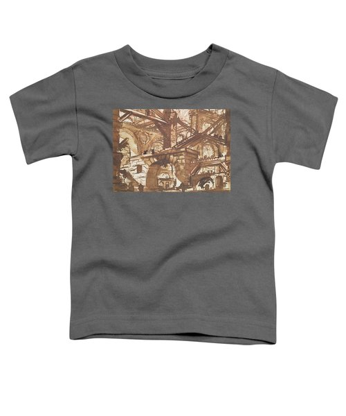 Drawing Of An Imaginary Prison Toddler T-Shirt by Giovanni Battista Piranesi