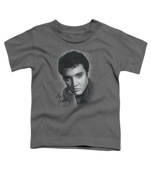 Elvis - Grey Portrait Toddler T-Shirt by Brand A
