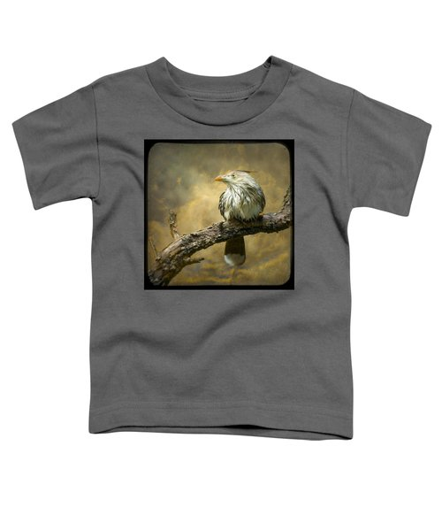 Exotic Bird - Guira Cuckoo Bird Toddler T-Shirt by Gary Heller