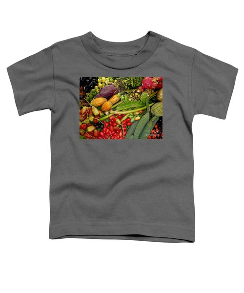 Exotic Fruits Toddler T-Shirt by Carey Chen