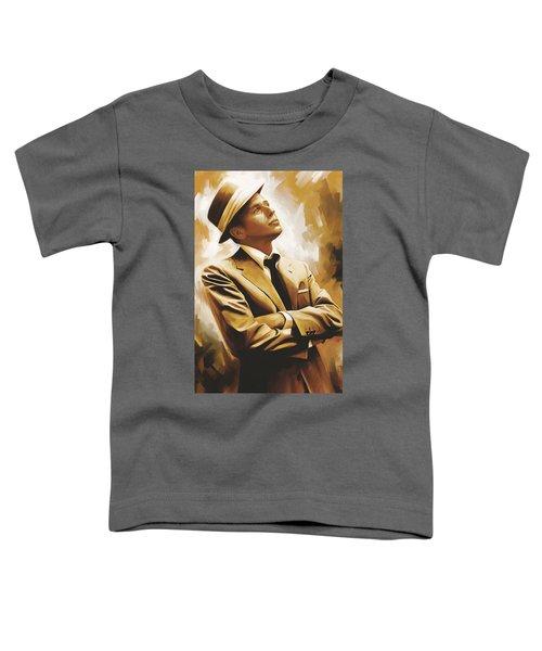 Frank Sinatra Artwork 1 Toddler T-Shirt by Sheraz A