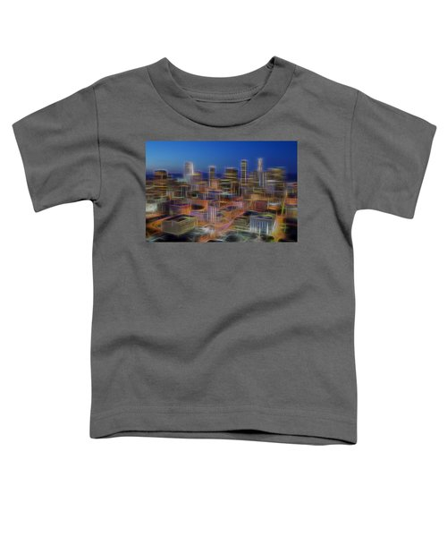 Glowing City Toddler T-Shirt by Kelley King