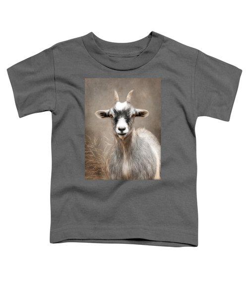 Goat Portrait Toddler T-Shirt by Lori Deiter