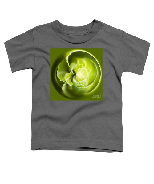 Green Cabbage Orb Toddler T-Shirt by Anne Gilbert