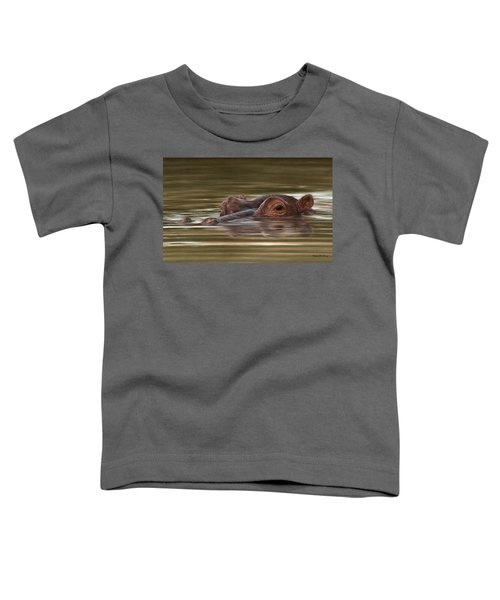 Hippo Painting Toddler T-Shirt by Rachel Stribbling