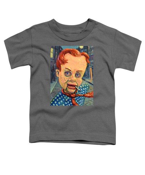 Howdy Von Doody Toddler T-Shirt by James W Johnson