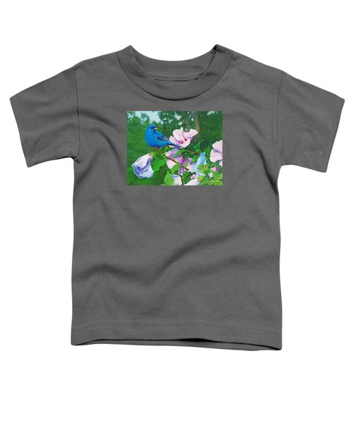 Indigo Bunting  Toddler T-Shirt by Ken Everett