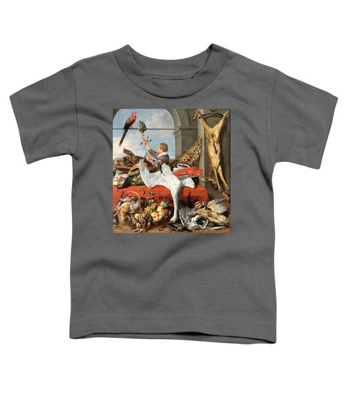 Interior Of An Office, Or Still Life With Game, Poultry And Fruit, C.1635 Oil On Canvas Toddler T-Shirt by Frans Snyders or Snijders