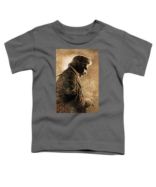 Johnny Cash Artwork Toddler T-Shirt by Sheraz A
