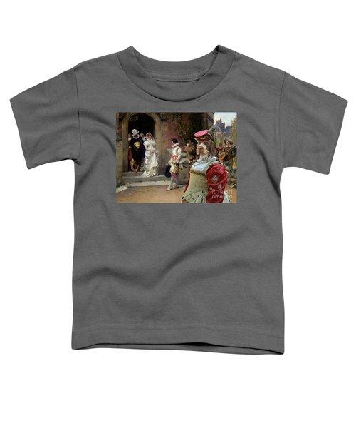 Korthals Pointing Griffon Art Canvas Print Toddler T-Shirt by Sandra Sij