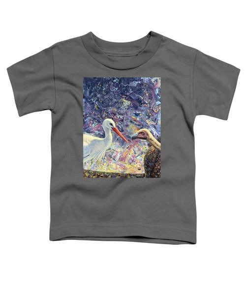 Living Between Beaks Toddler T-Shirt by James W Johnson