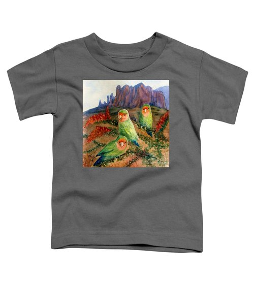 Lovebirds Toddler T-Shirt by Marilyn Smith