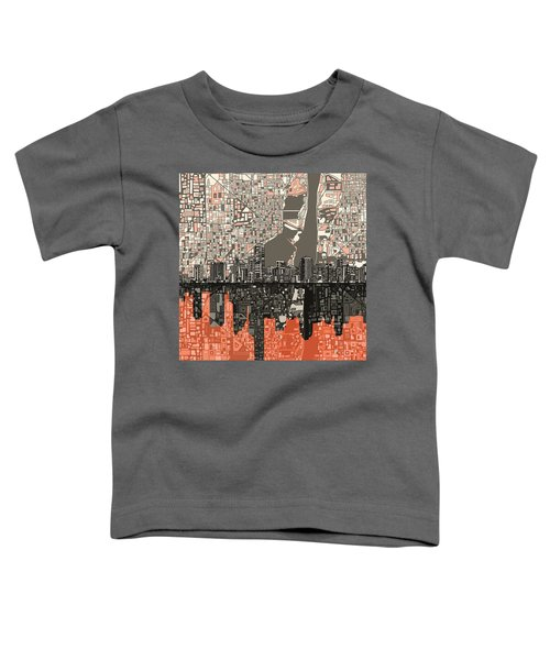 Miami Skyline Abstract 2 Toddler T-Shirt by Bekim Art