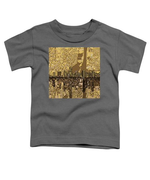 Miami Skyline Abstract 6 Toddler T-Shirt by Bekim Art