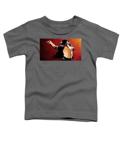 Michael Jackson Artwork 4 Toddler T-Shirt by Sheraz A