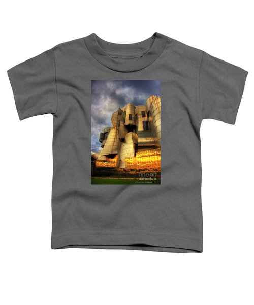 Minneapolis Skyline Photography Weisman Museum Toddler T-Shirt by Wayne Moran