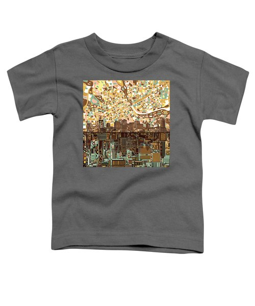 Nashville Skyline Abstract 4 Toddler T-Shirt by Bekim Art