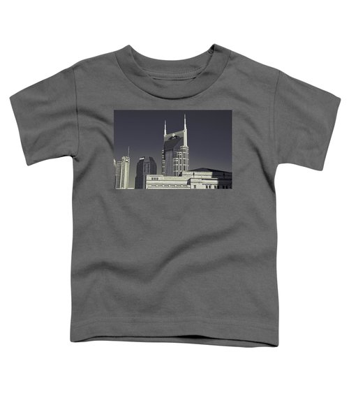 Nashville Tennessee Batman Building Toddler T-Shirt by Dan Sproul