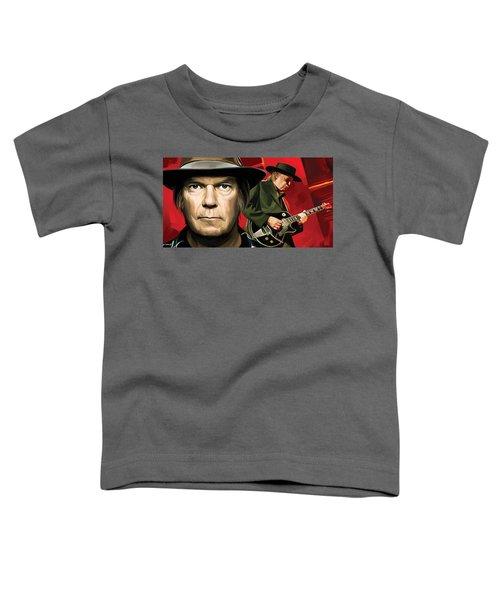 Neil Young Artwork Toddler T-Shirt by Sheraz A