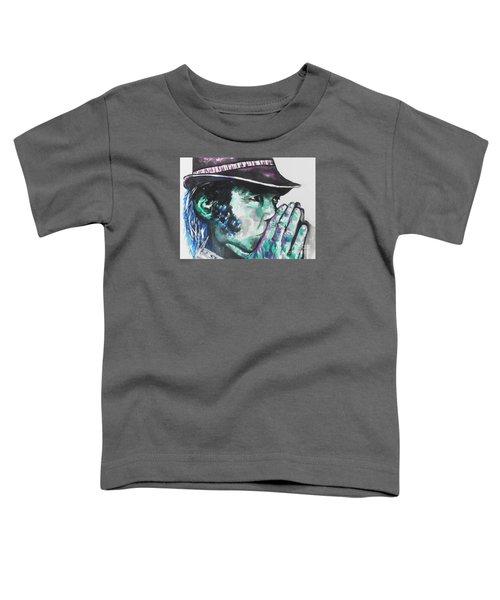 Neil Young Toddler T-Shirt by Chrisann Ellis