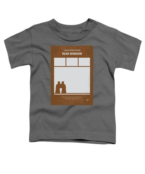 No238 My Rear Window Minimal Movie Poster Toddler T-Shirt by Chungkong Art