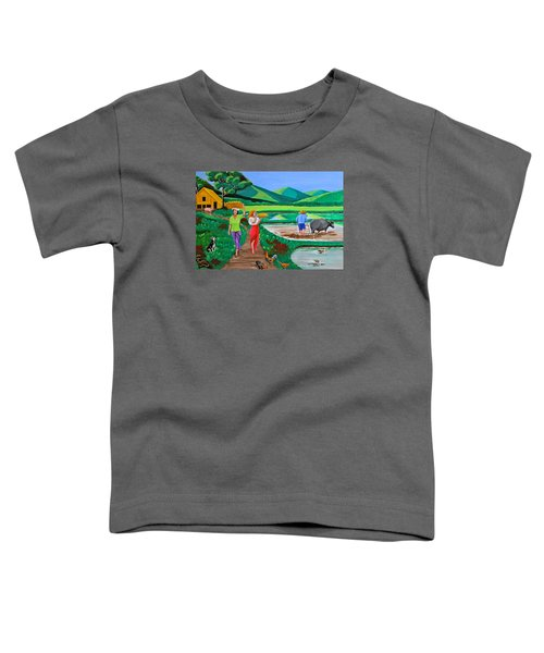 One Beautiful Morning In The Farm Toddler T-Shirt by Cyril Maza